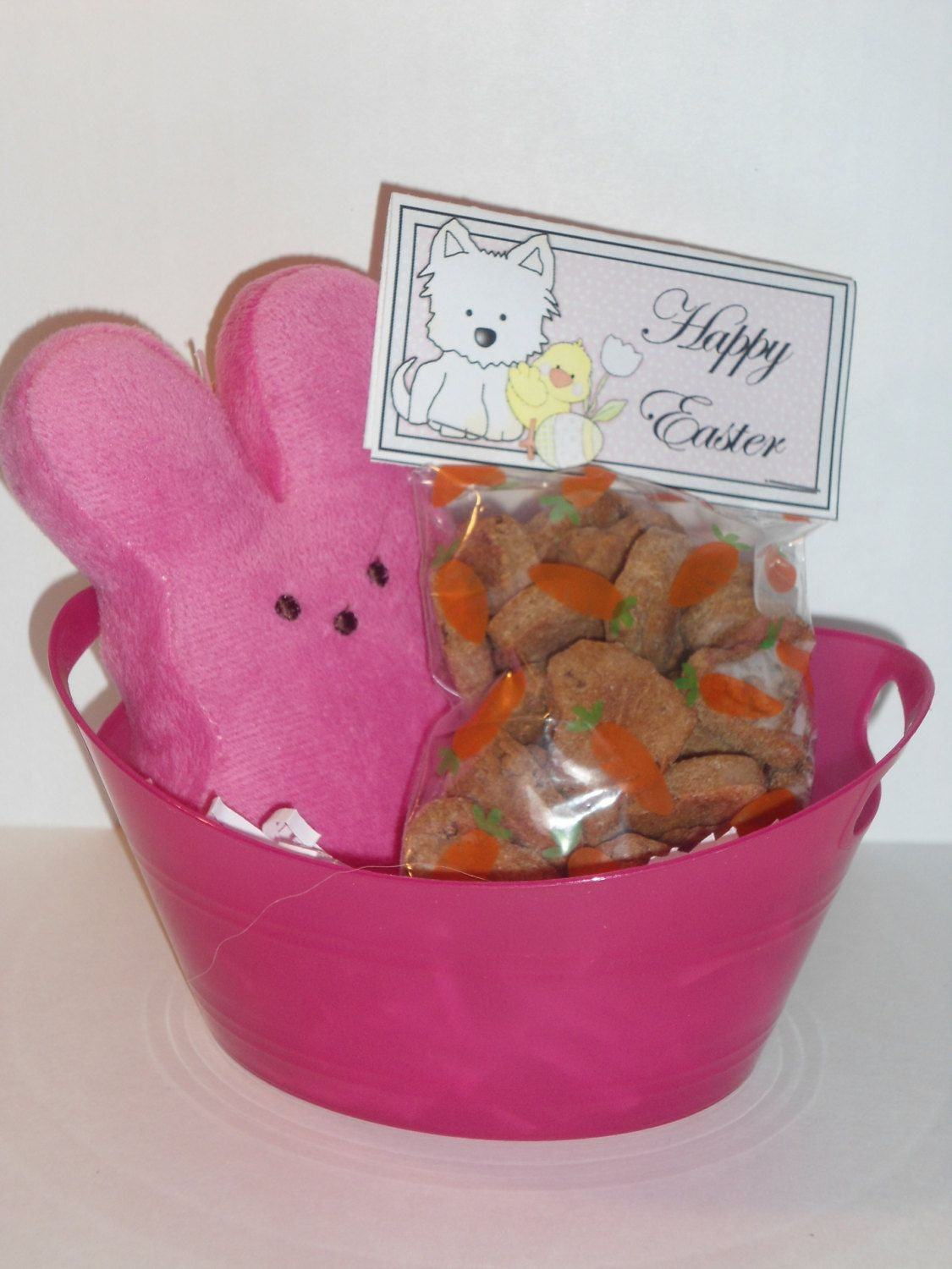 Peeps easter basket for dogs homemade all natural dog treats by peeps easter basket for dogs homemade all natural dog treats by pamperedpupsbakery on etsy negle Images