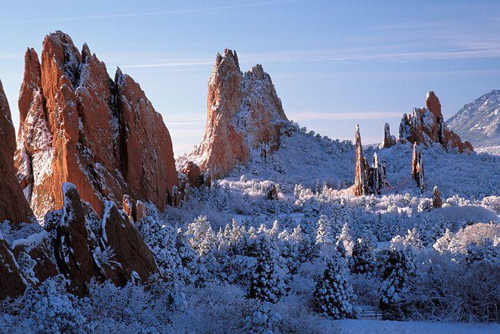 Winter Photograph Of Garden Of The Gods In Colorado Springs