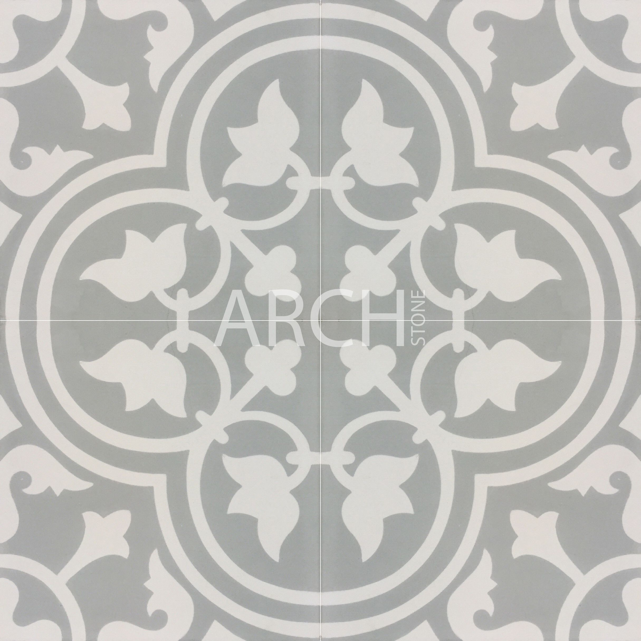 Hand Painted Encaustic Tiles Made From Concrete Available In Matt Finish 200x200
