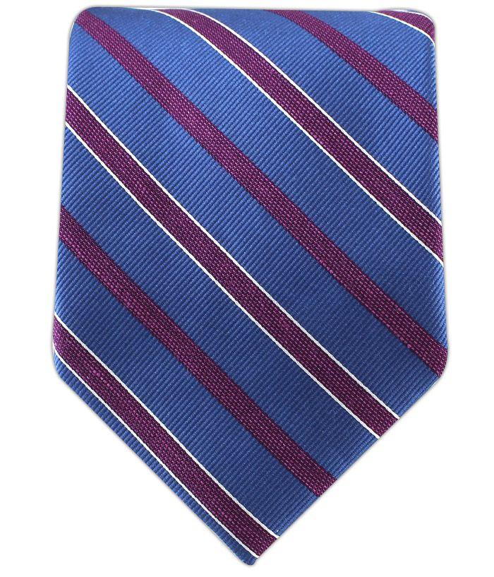 - Archive Stripe - Matte Serene Blue/Azalea (Linen) Ties