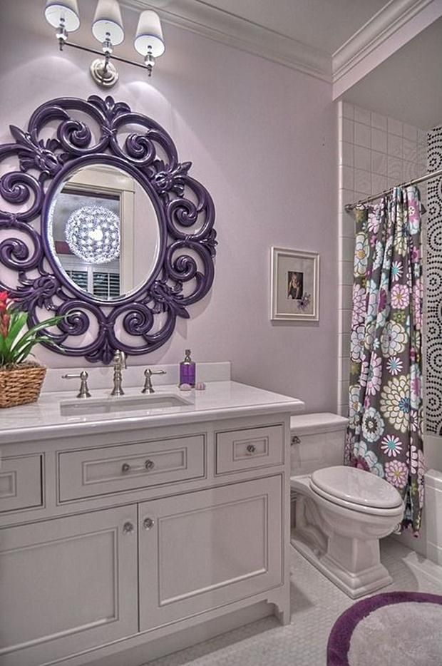 Purple With Lavender Bathrooms