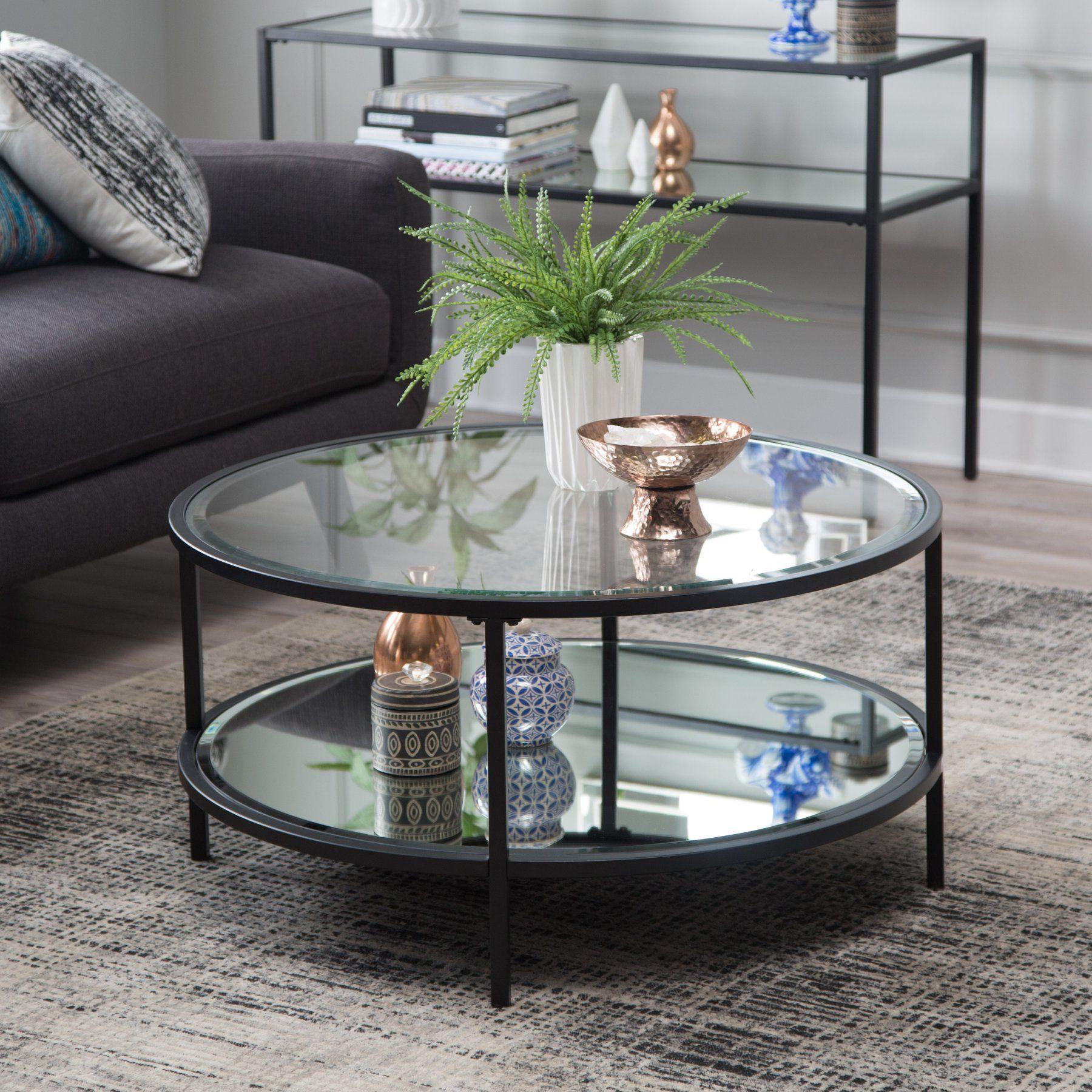 Belham Living Lamont Round Coffee Table Black Rct36 3 Black
