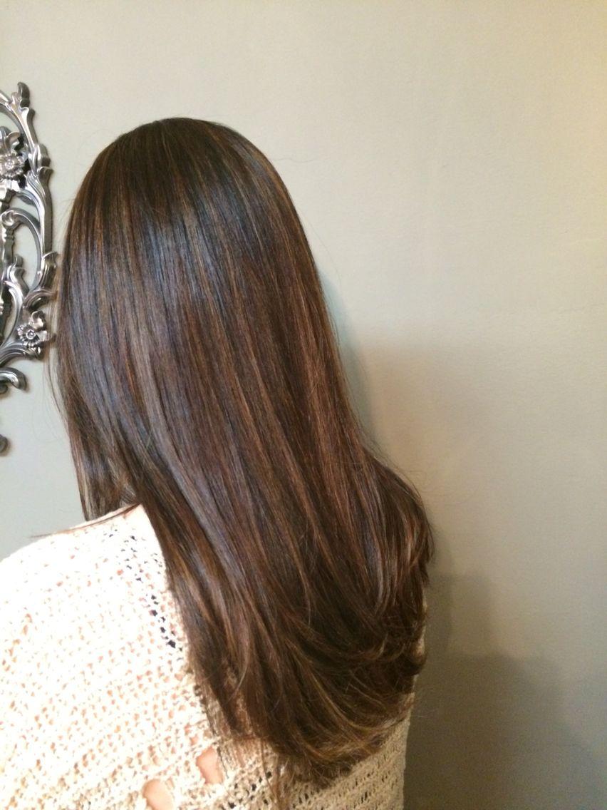 Hair Painting Brunette Hair Color Krista Bradford Salon Chicago Hair