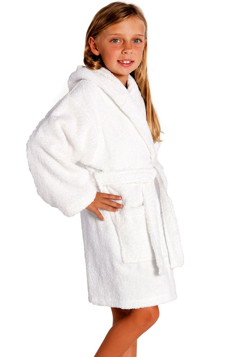 163226d7cf Kids Bathrobes    White Hooded Terry Kid s Bathrobe - Wholesale bathrobes
