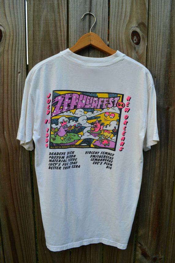 Vintage 1994 New Orleans Zephyr Fest Tshirt Vintage Concert T Shirts T Shirt Concert Tshirts