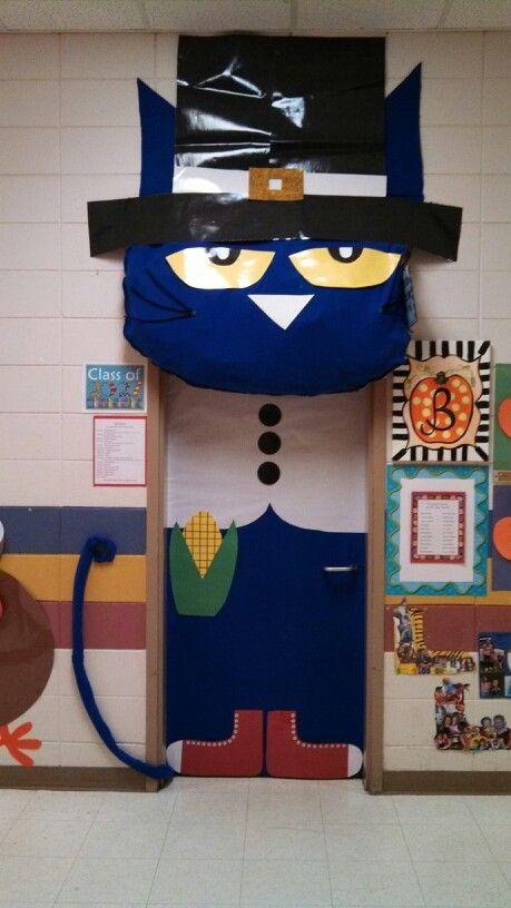 Thanksgiving Classroom Decoration : Thanksgiving pete the cat classroom door stuff