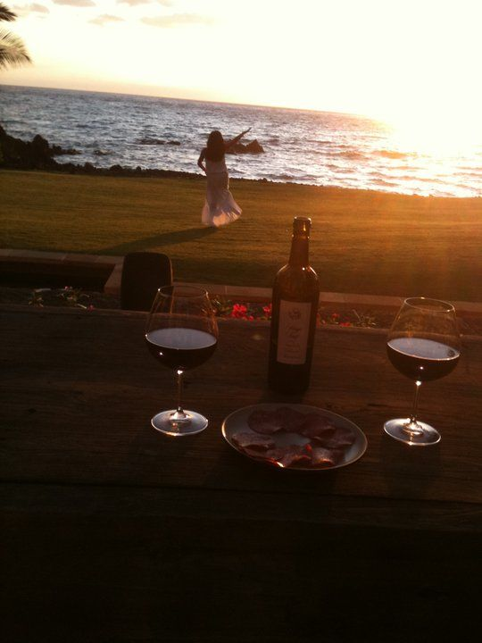 Everything's better with a beach and some wine!!! =)