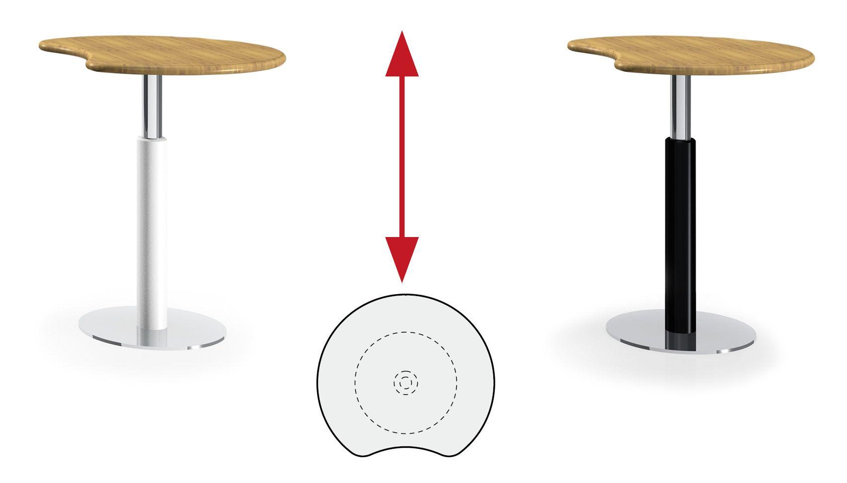 Bambus Hohenverstellbarer Besprechungstisch A09 Bambus Tisch Holz