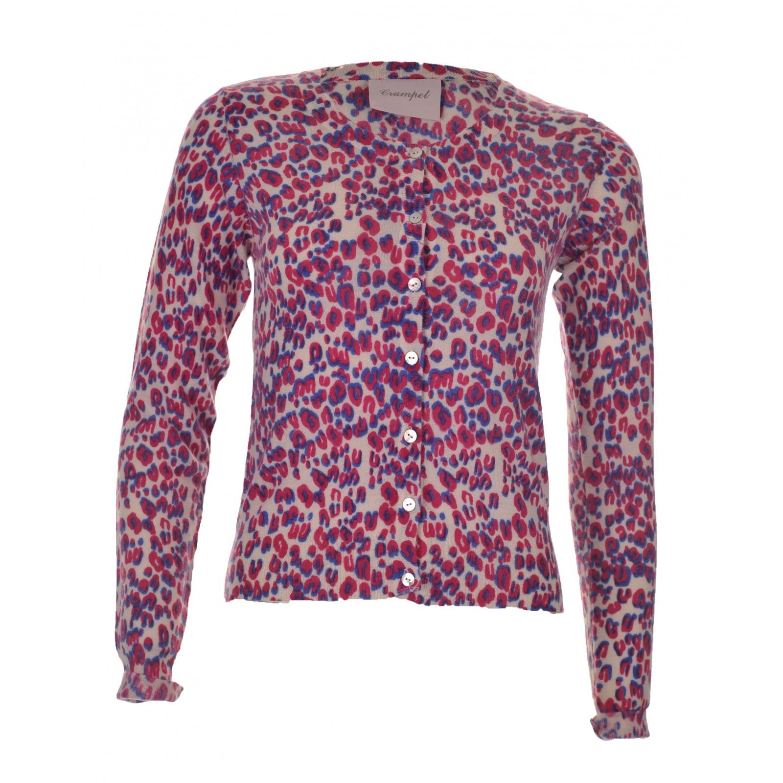 Crumpet cashmere basic day cardigan in pink leopard - £295 http ...