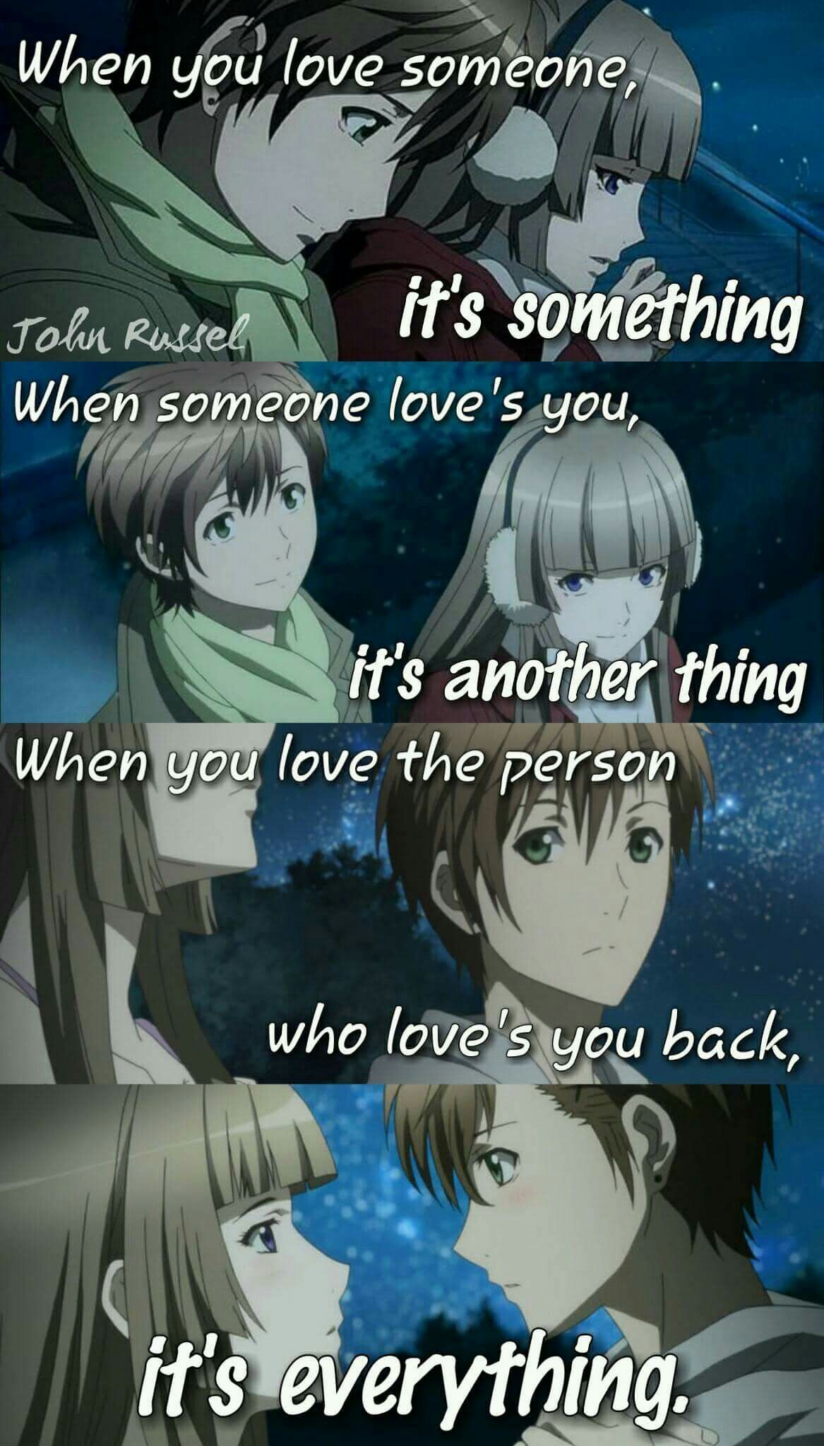 Anime Quote Anime love quotes, Anime quotes, Loving