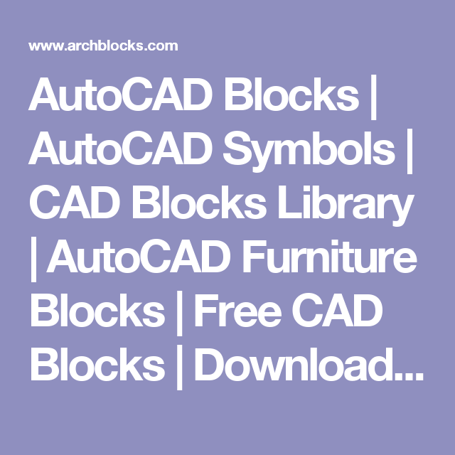 Autocad Blocks Autocad Symbols Cad Blocks Library Autocad