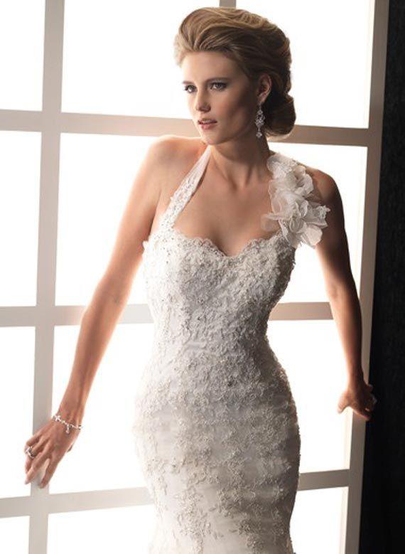 Halter Neck Mermaid Lace Wedding Dress