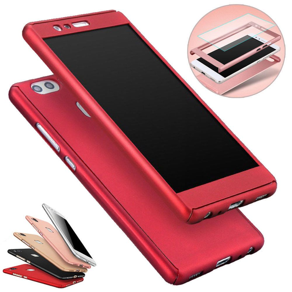 huge discount 88c43 428a6 1.0AUD - 360° Full Hybrid Case Cover + Tempered Glass For Huawei ...