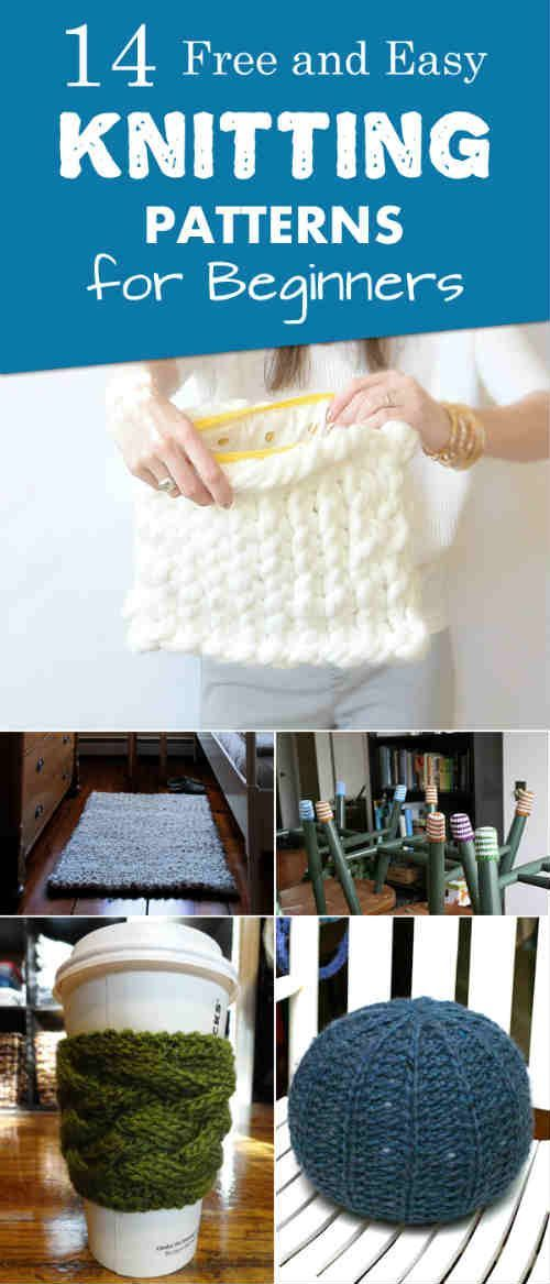 14 Free and Easy Knitting Patterns for Beginners | Knitting Ideas ...