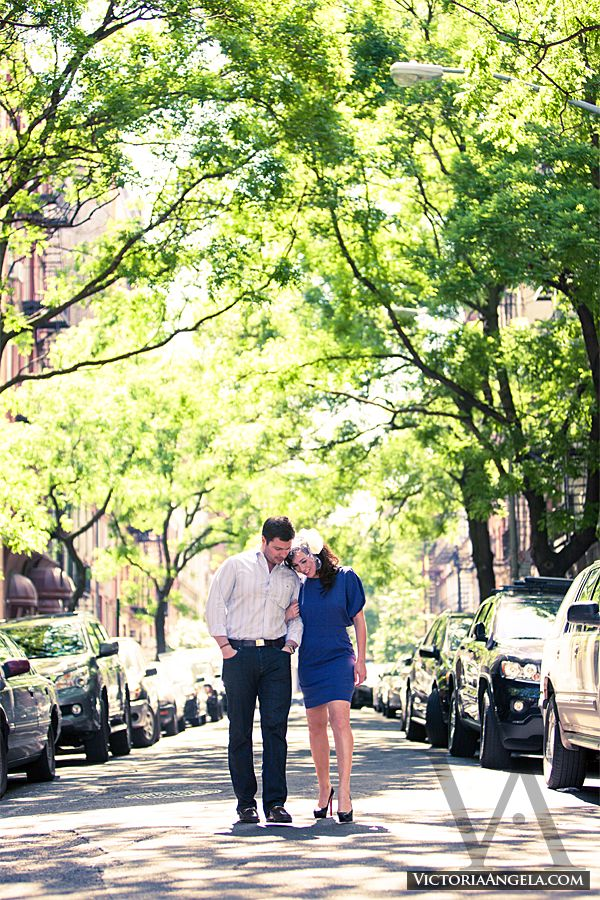 Our NYC engagement photo shoot. (taken on the same street as Bob Dylan's Freewheelin' cover!)