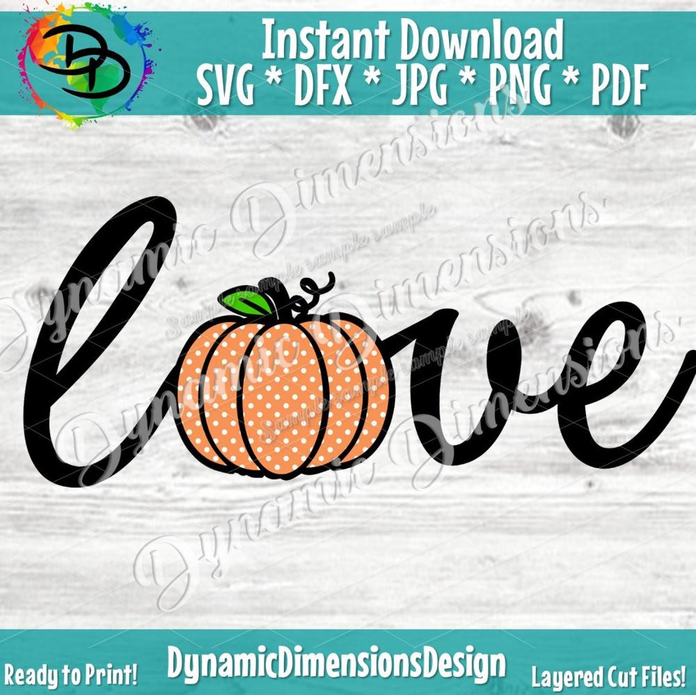 Download Pumpkin Love Svg, Pumpkin SVG, Pumpkin svg file, Halloween ...