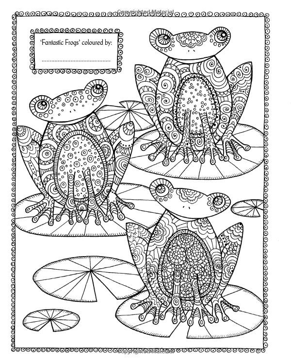 Pin von Barbara auf coloring frog   Pinterest