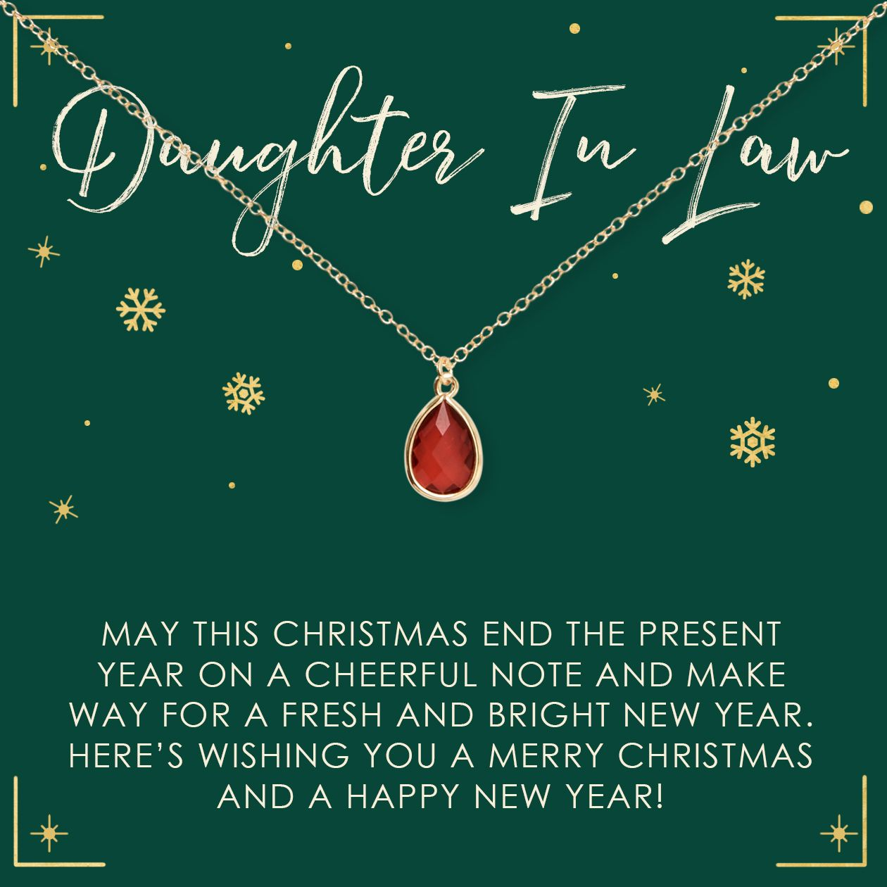 Christmas Gift for Daughter in Law Gemstone Necklace ...