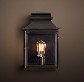 New Vintage Gas Lantern Sconces Restoration Hardware