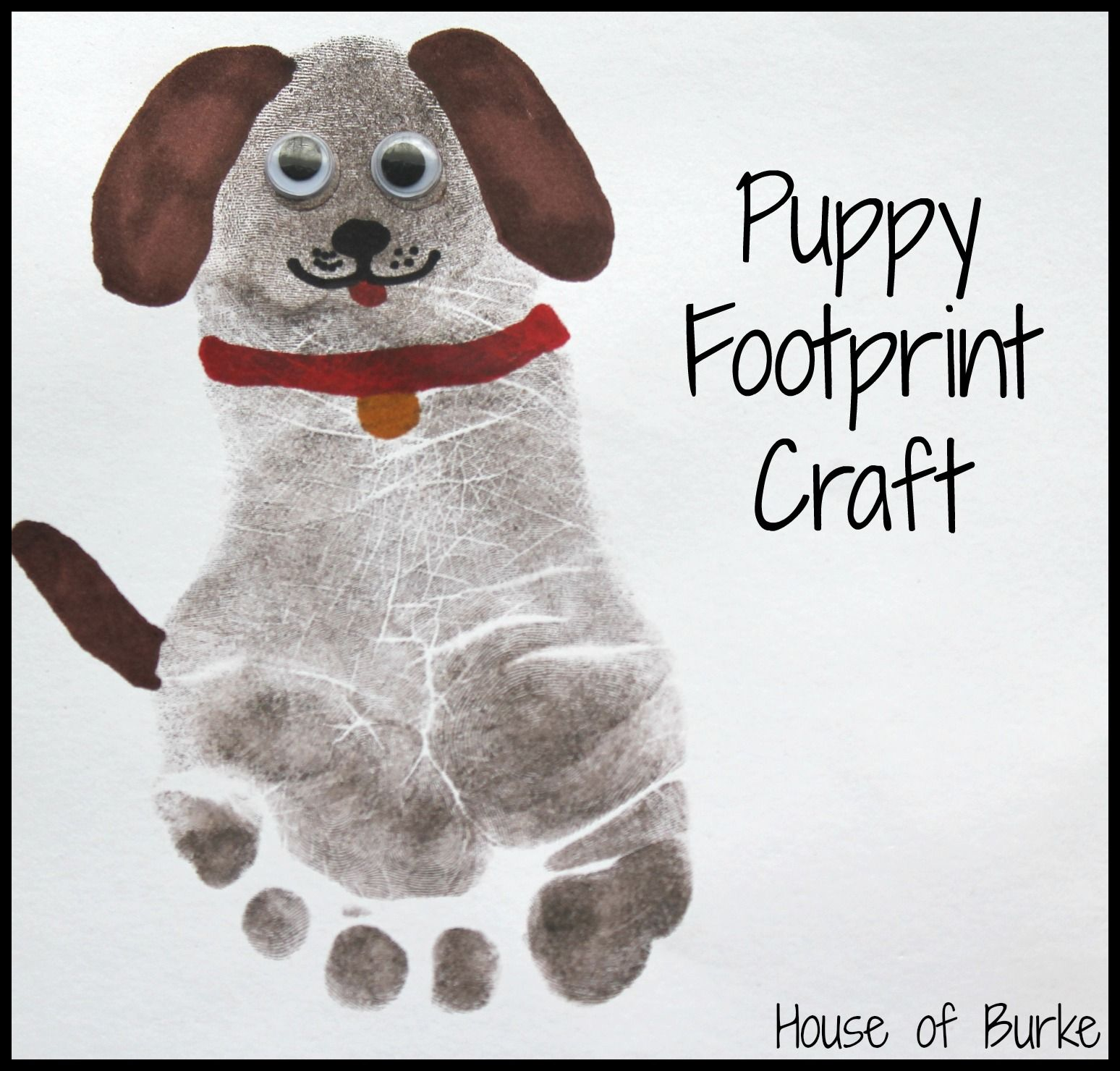Pet print crafts craft printing and house for Dog craft ideas
