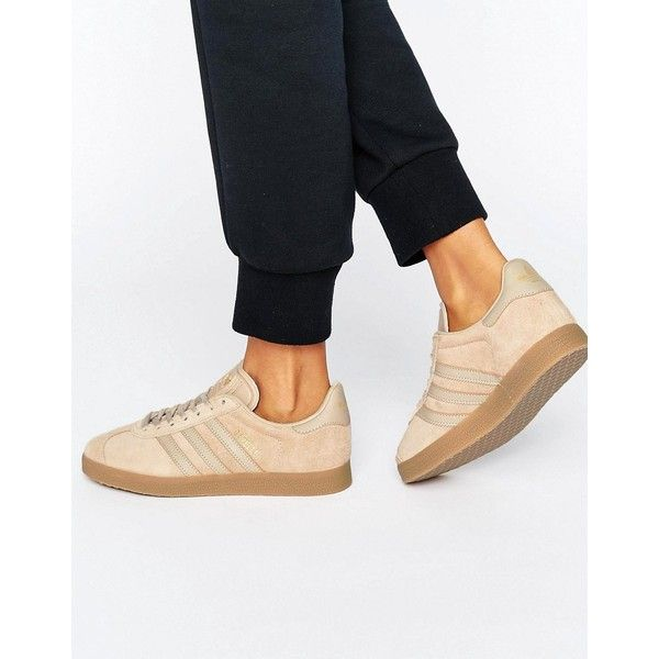 adidas Originals Beige Gazelle Trainers With Gum Sole (€87