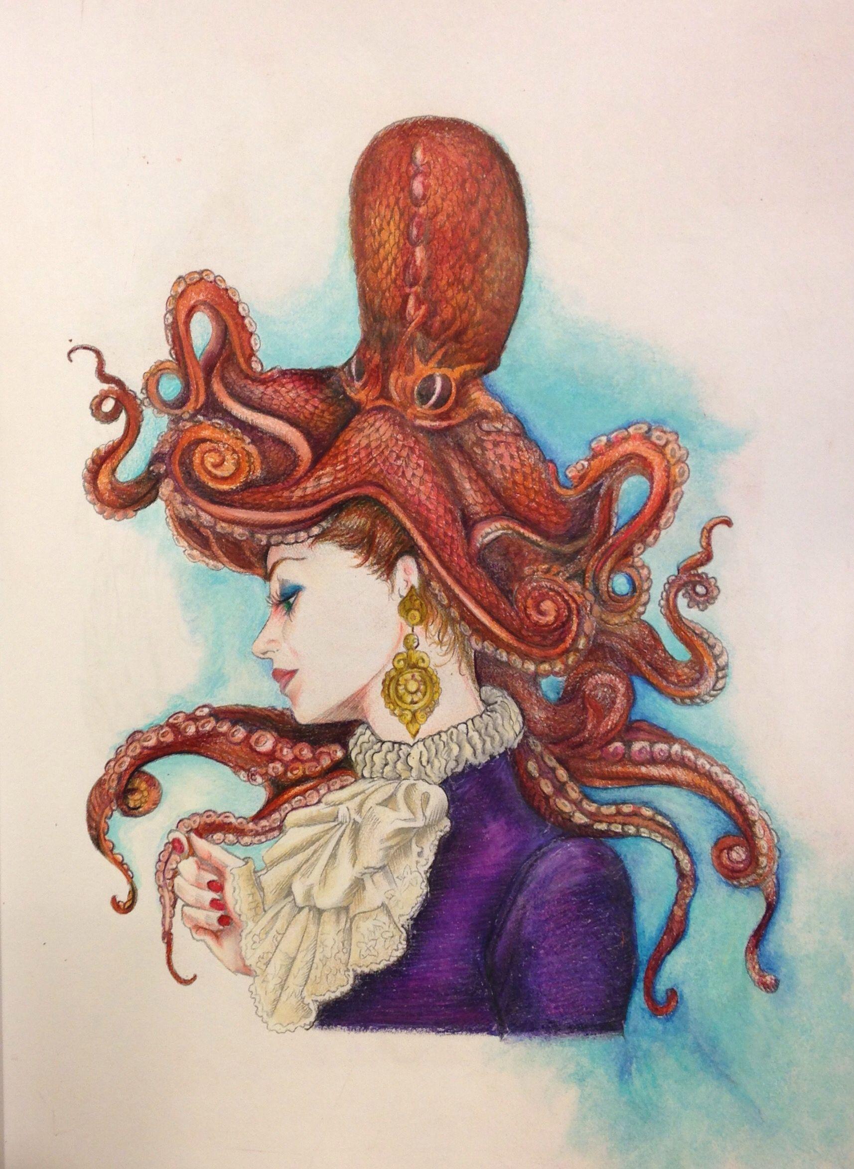Octopus Hat   Coloring - Bennett Klein   Pinterest   Sketchbooks ...