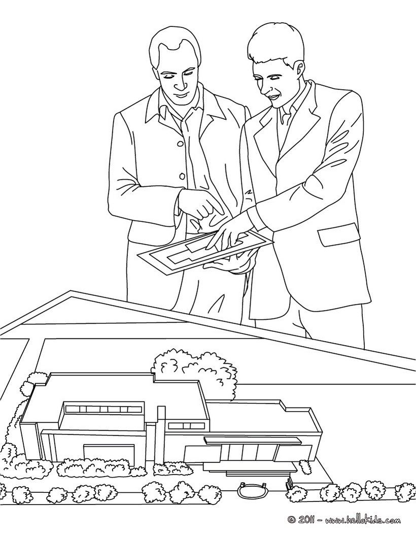 Coloring book real estate - Find This Pin And More On Job Coloring Pages Real Estate