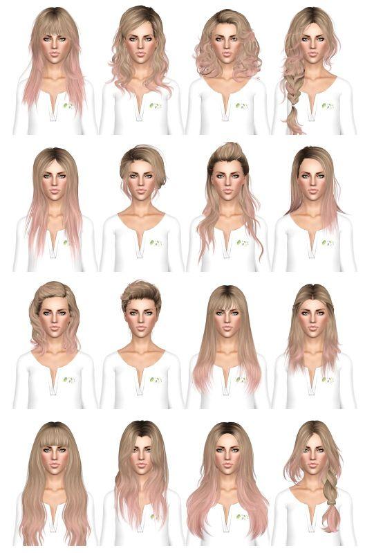 Hair Dump 3 By July Kapo Sims 3 Hairs Sims Hair Sims 3 Sims