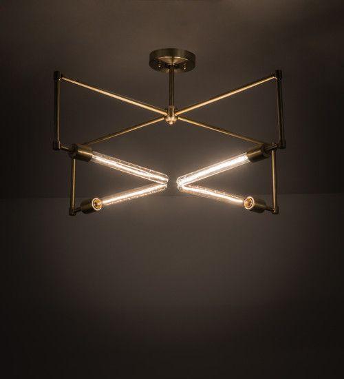 Meyda 32 W Pronograde Semi Flushmount Modern Ceiling Light Fixtures Pendant Ceiling Lamp Ceiling Lights