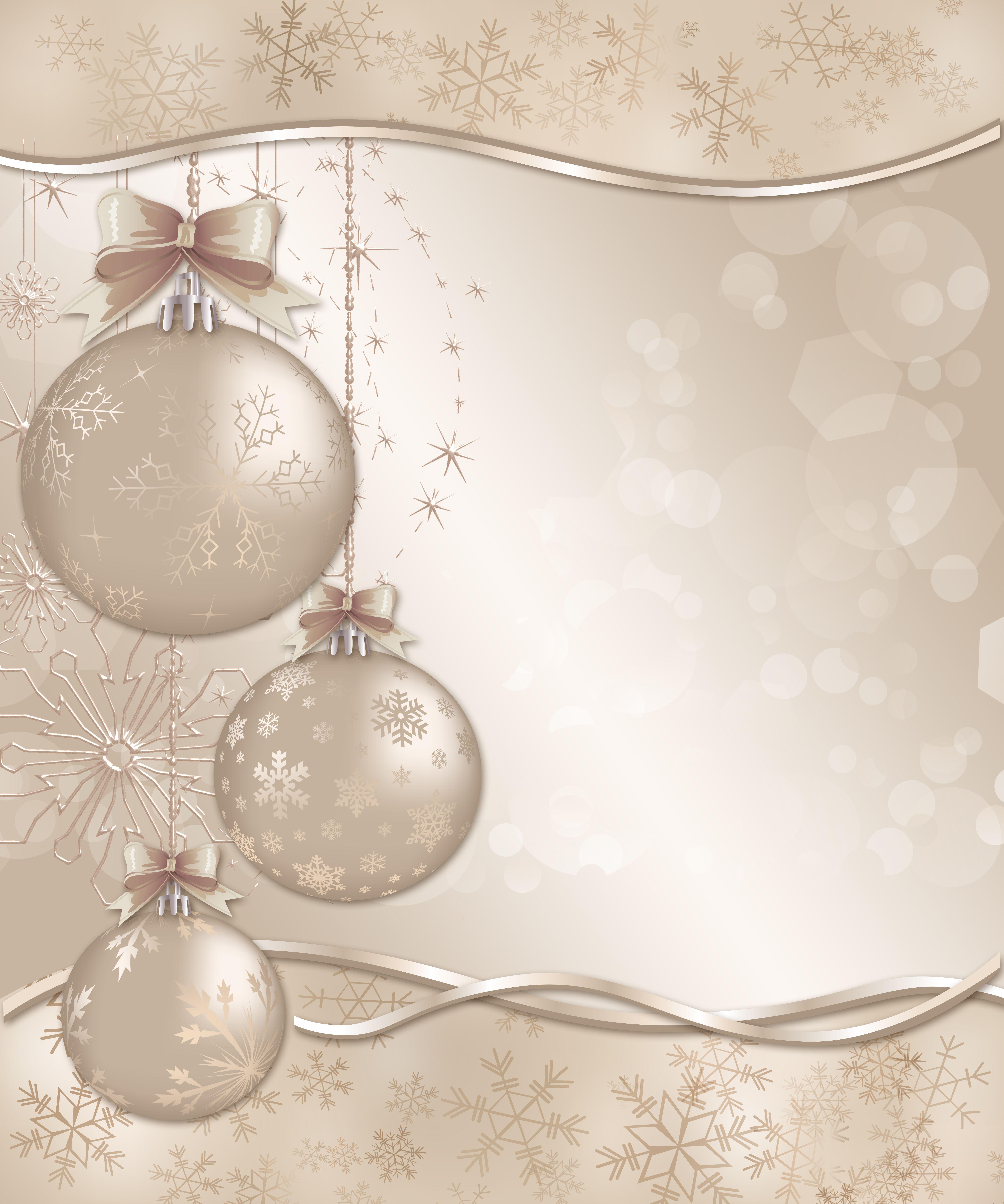 Винтажная новогодняя открытка в фотошопе, пожелание