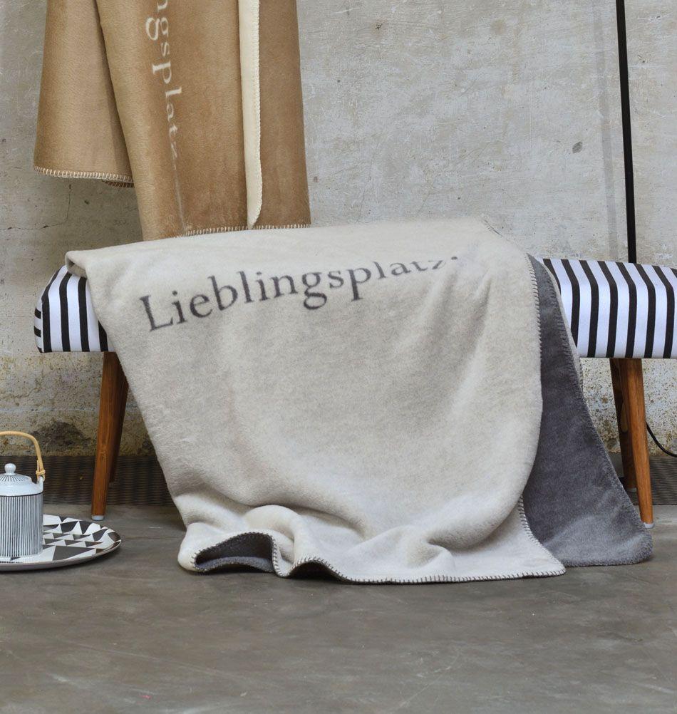 David Fussenegger Decke Lieblingsplatz Grau Fussenegger
