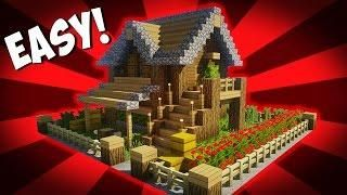 Minecraft How To Build A Small Survival House Tutorial 10 Easy