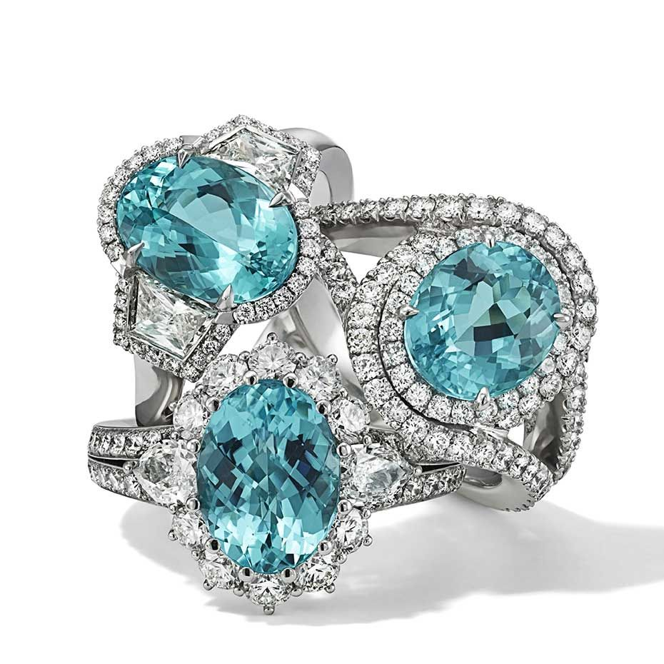 Hans D. Krieger is one of the few high #jewellery houses still producing new designs set with impressive Brazilian #Paraiba #tourmalines. #colour #blue #luxury #diamonds See more at www.thejewelleryeditor.com