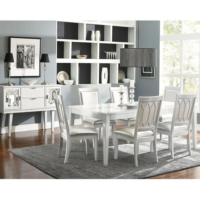 Glamour 8Piece Dining Room Set  Nebraska Furniture Mart Pleasing 8 Piece Dining Room Set Design Decoration