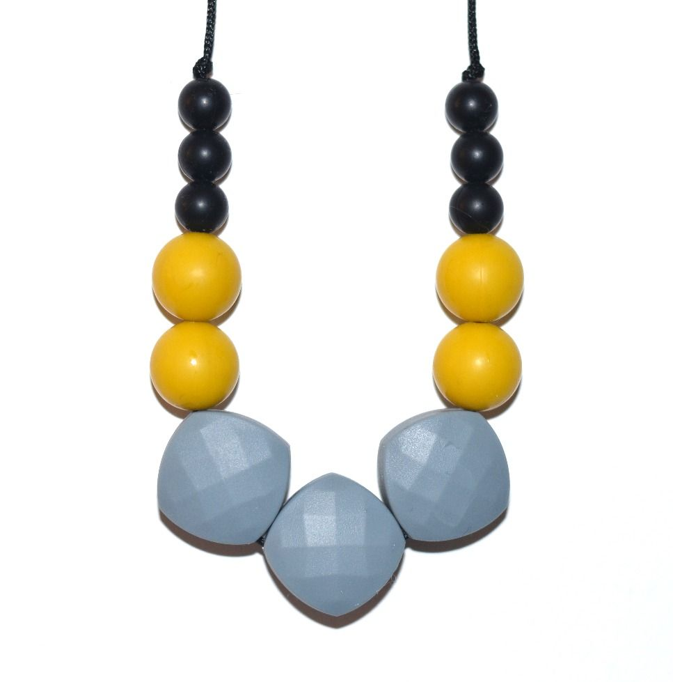 Silicone teething necklace for Mum. Looks stylish Baby proof Soothes sore  gums Meets European EN71 212357f7834