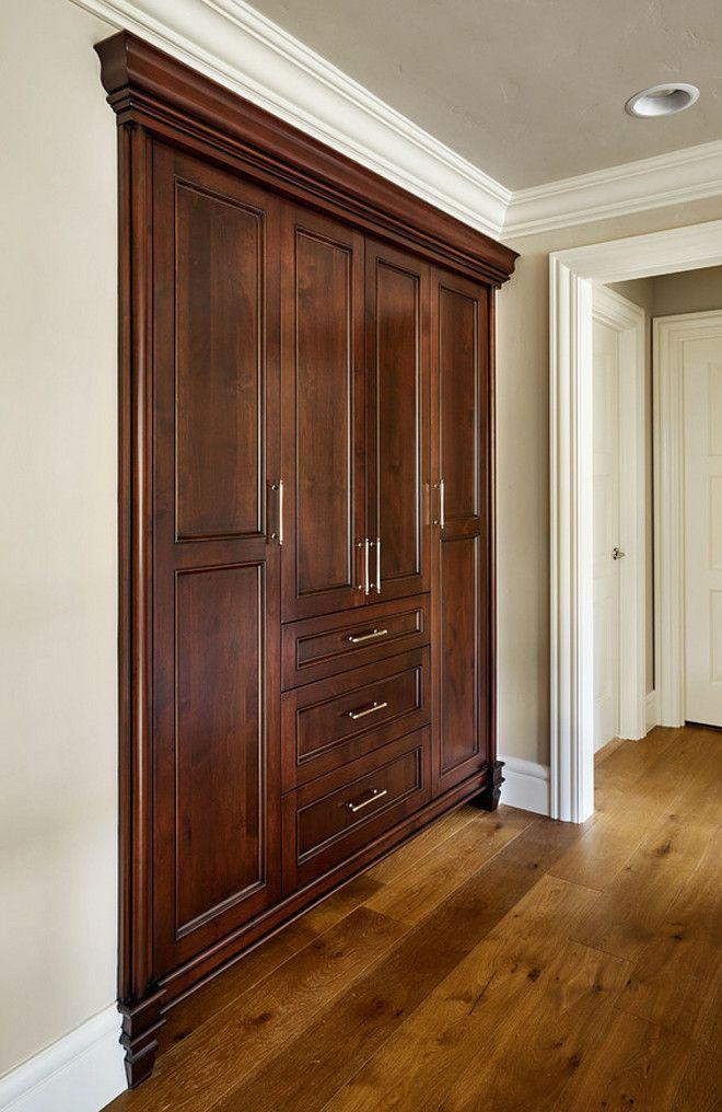 Hallway Linen Cabinet. Hallway Custom Linen Cabinet. This Hallways Linen  Cabinet Was Custom Stained