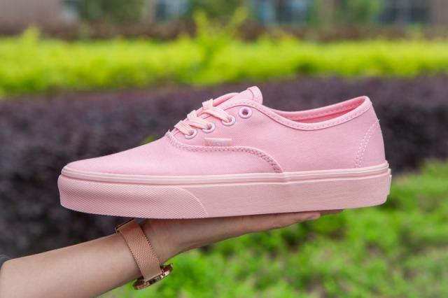 9d1dcf43f9 Vans Mono Canvas Authentic Classic Peach Blush Womens Shoes  Vans ...