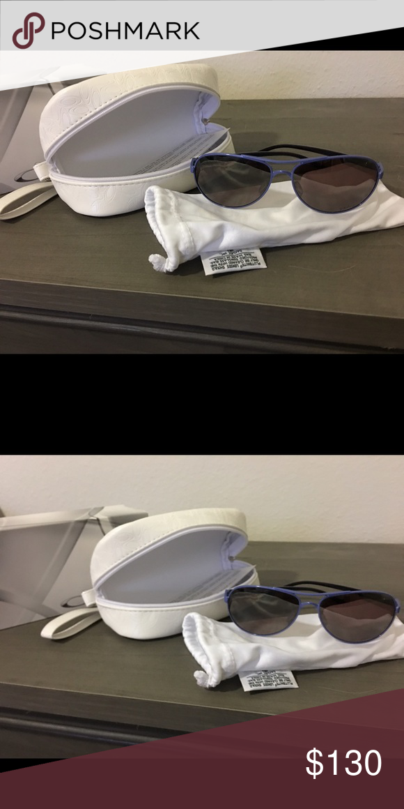black and purple oakley sunglasses no5a  Oakley sunglasses Oakley sunglasses with purple frame polarized Bought  these and white one and have