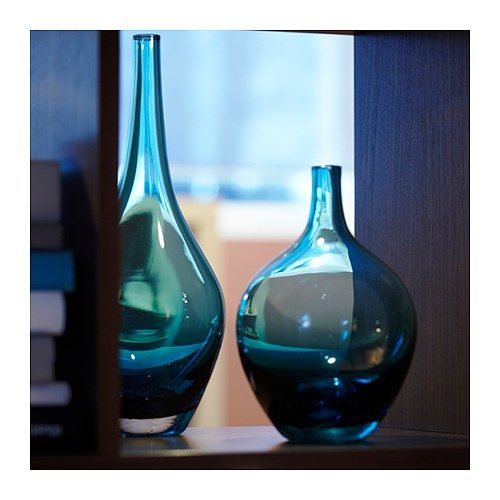 $9.99 SALONG Vase IKEA Mouth blown; each vase has been shaped by a on ikea green rug, blue and clear blown glass bud vase, ikea glass vases, cobalt blue crystal vase, ikea green desk lamp, ikea green sofa,