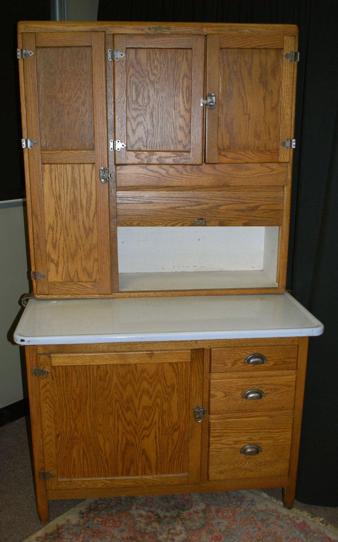 Oak Hoosier cabinet, This is just like mine, I love it ...