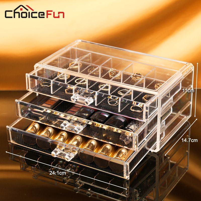 Aliexpress Com Buy Choice Fun Plastic Storage Box Acrylic Makeup Organizer Cosmetic Org Jewelry Organizer Box Makeup Storage Organization Plastic Box Storage