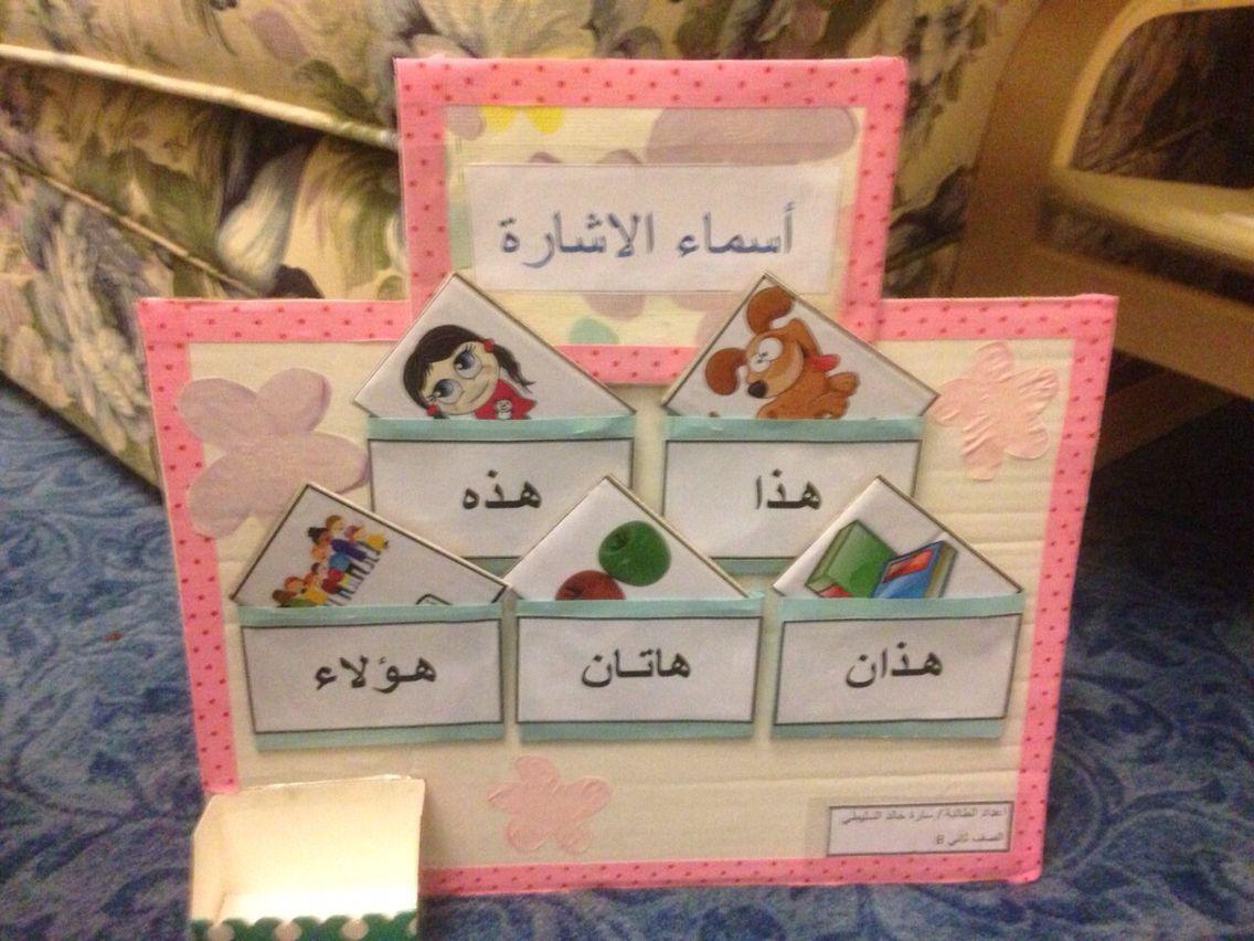 اعمال فنيه لوحة اسماء الاشارة اللغة العربية Arabic Alphabet For Kids Learning Arabic Arabic Language