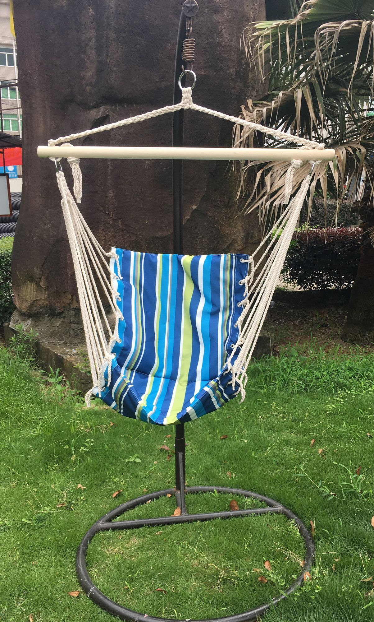 Cotton and polyester chair hammock outdoor products and products