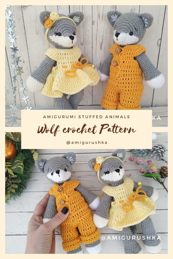 Stuffed Wolf PATTERN amigurumi crochet valentines day gift Baby shower gift or newborn baby gift diy stuffed animals boy and girl day gift boyfriend day gift girl day gif...