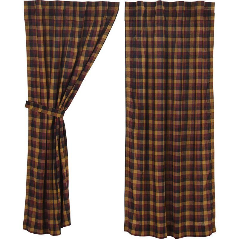 Drancy Check Lined 100 Cotton Plaid Rod Pocket Curtain Panels Rod Pocket Curtain Panels Rod Pocket Curtains Curtains