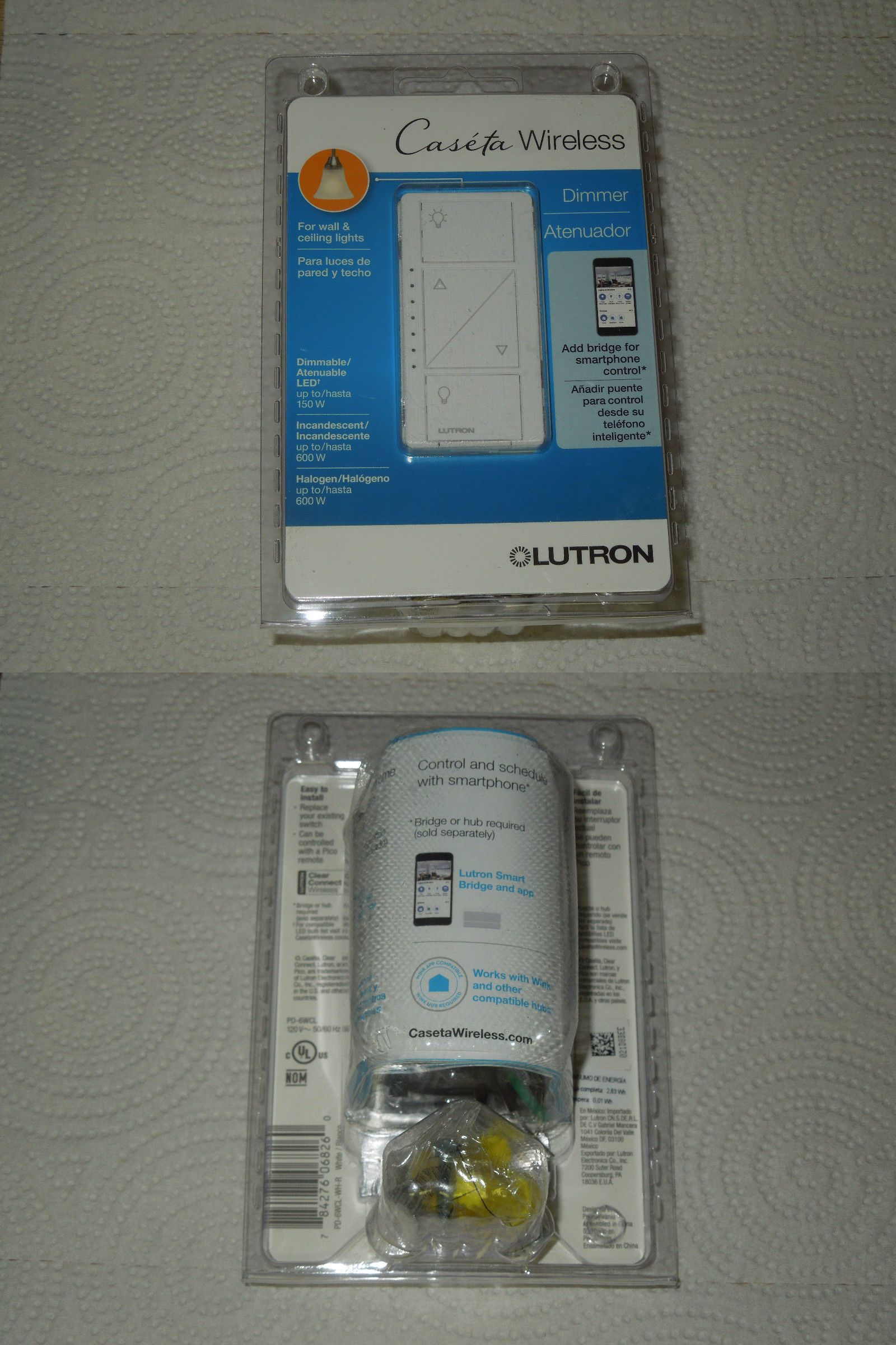 Dimmers 41984: Lutron Pd-6Wcl-Wh Caseta Wireless Smart Lighting