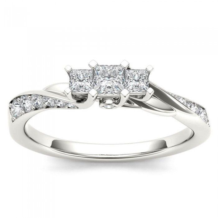 10k White Gold Solitaire Ladies Ring 0 42 Ct I Color I1 Clarity Size 6 Tangible Investments White Gold Women Rings White Gold Solitaire