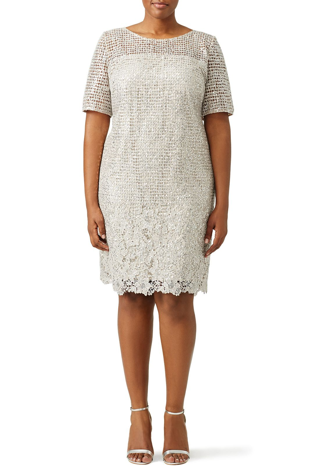 Silver sequined lace cocktail dress shops lace and cocktail dresses
