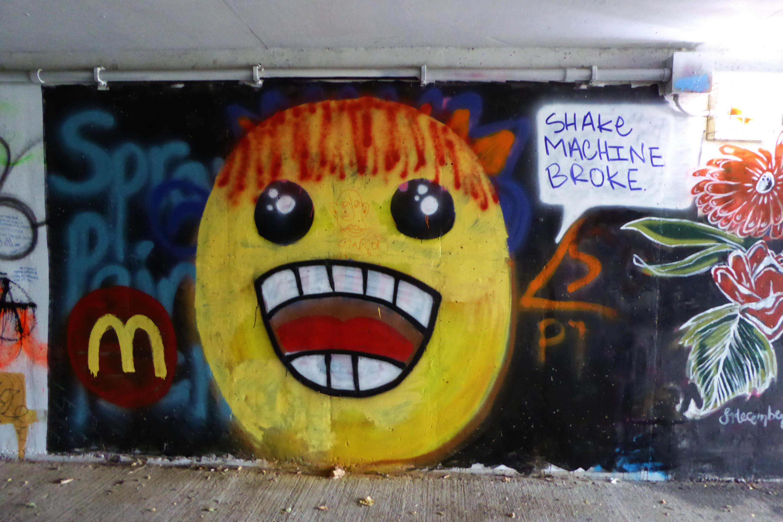 Graffiti On The Tunnel Crossing By The Utica Library On Auburn Rd Utica Mi Gatorade Bottle Utica Drink Bottles