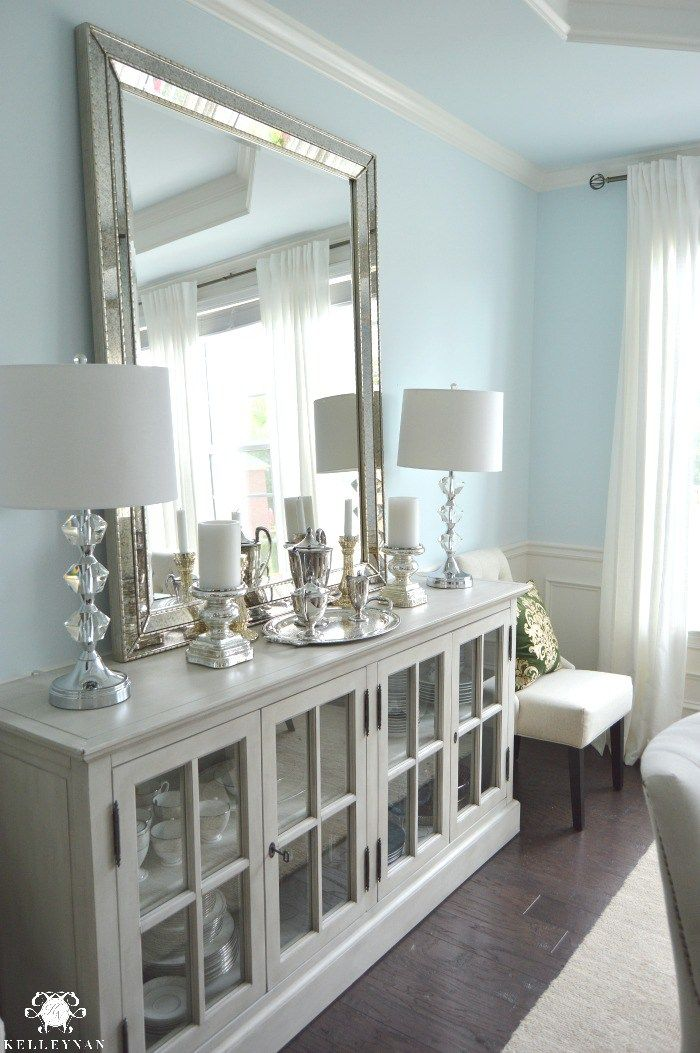 Dining Room Update Vertical Vs Horizontal Buffet Mirror Modern Farmhouse Dining Room Dining Room Makeover Dining Room Updates